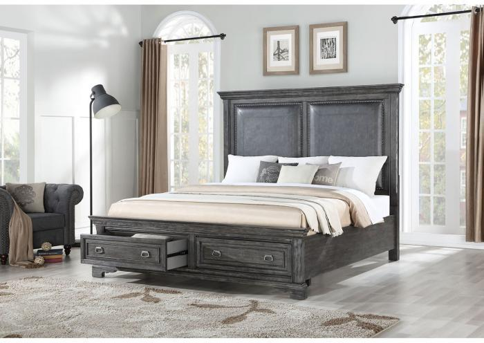 Santa Fe Platform Storage Bedroom Set - California King,Instore