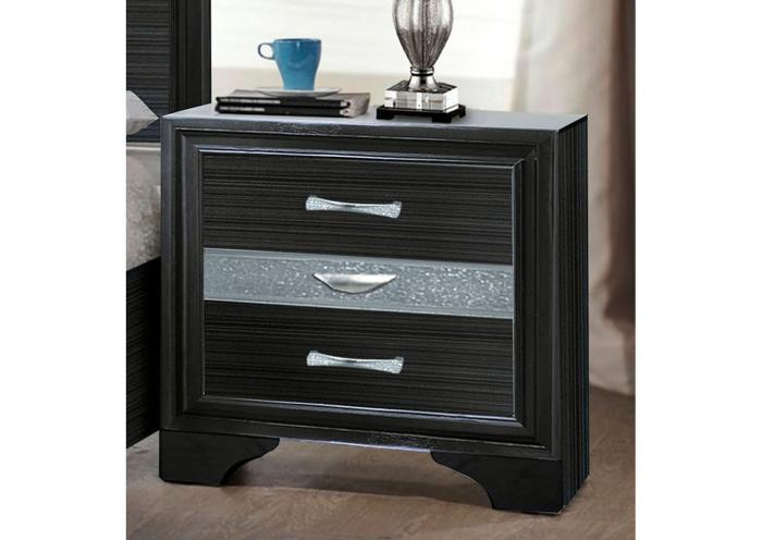 Jewel Black Nightstand,Instore