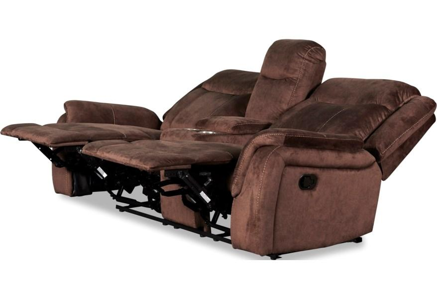 Chocolate Power Reclining Sofa and Loveseat Cavett