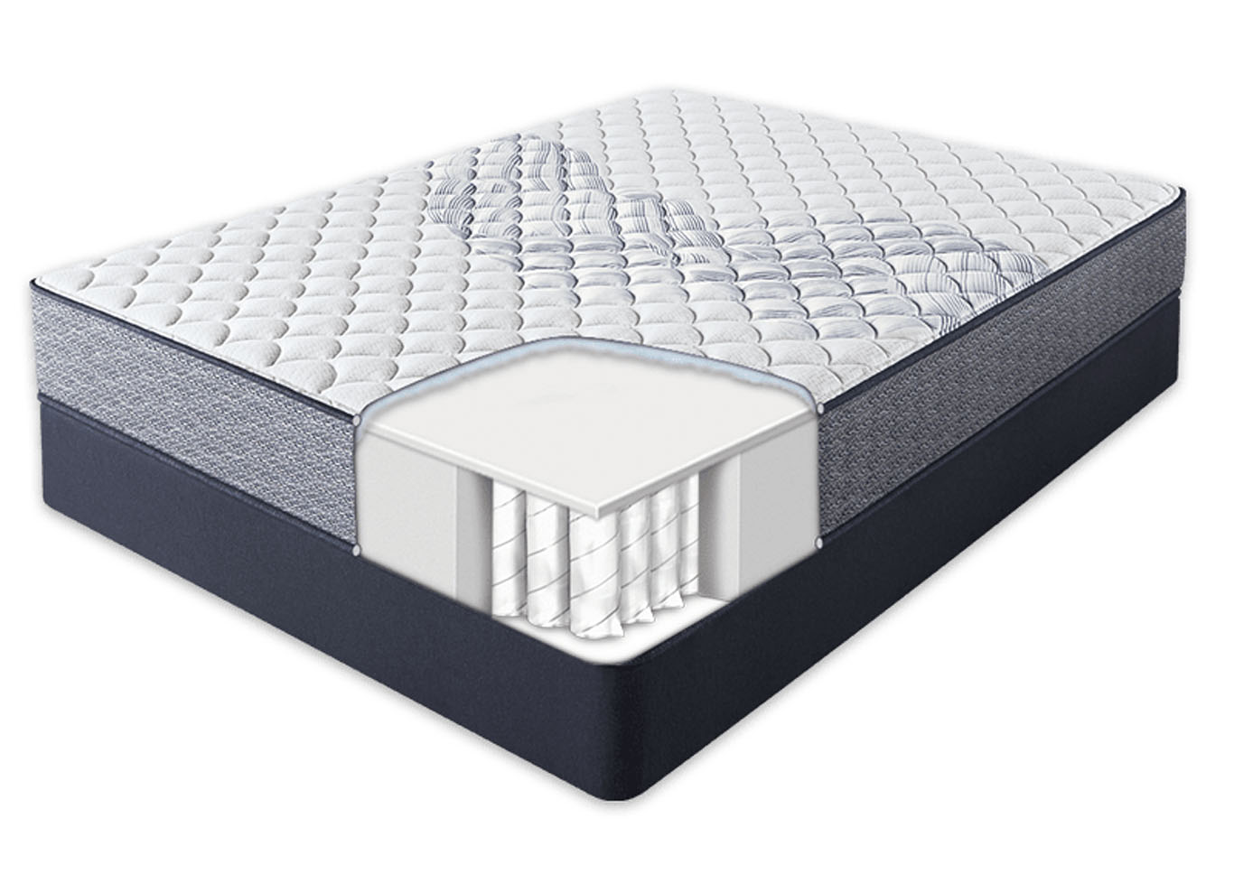 Serta Sleep Retreat Park City Extra Firm Mattress and Foundation Twin,Instore