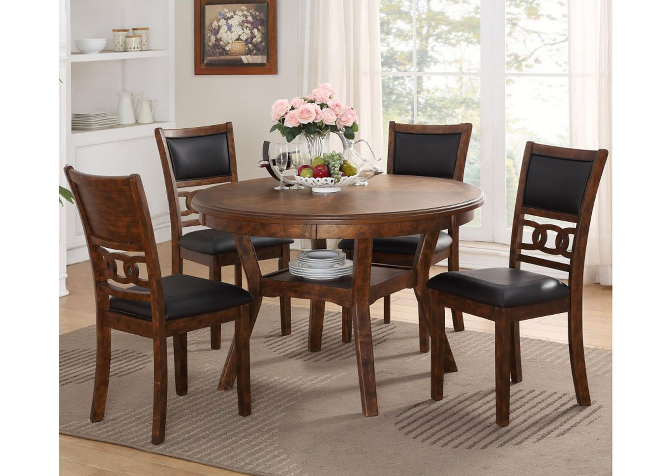 Gia 5pc Dining Set - Brown,Instore