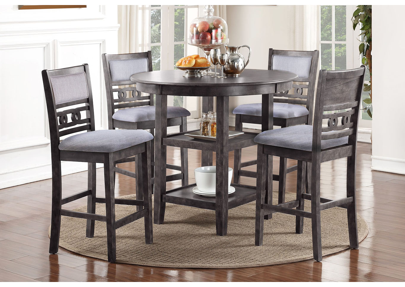 Gia 5pc Counter Height Set - Gray,Instore