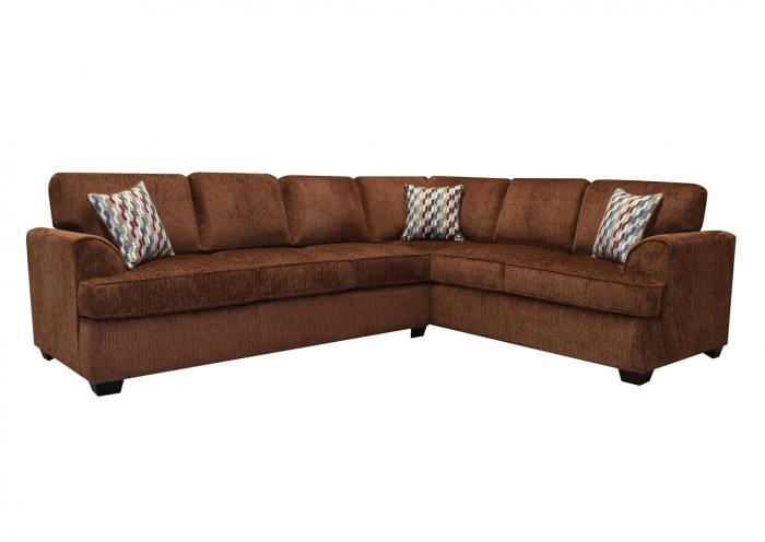 Jana 2pc Sectional with Queen Sleeper - Bark,Instore