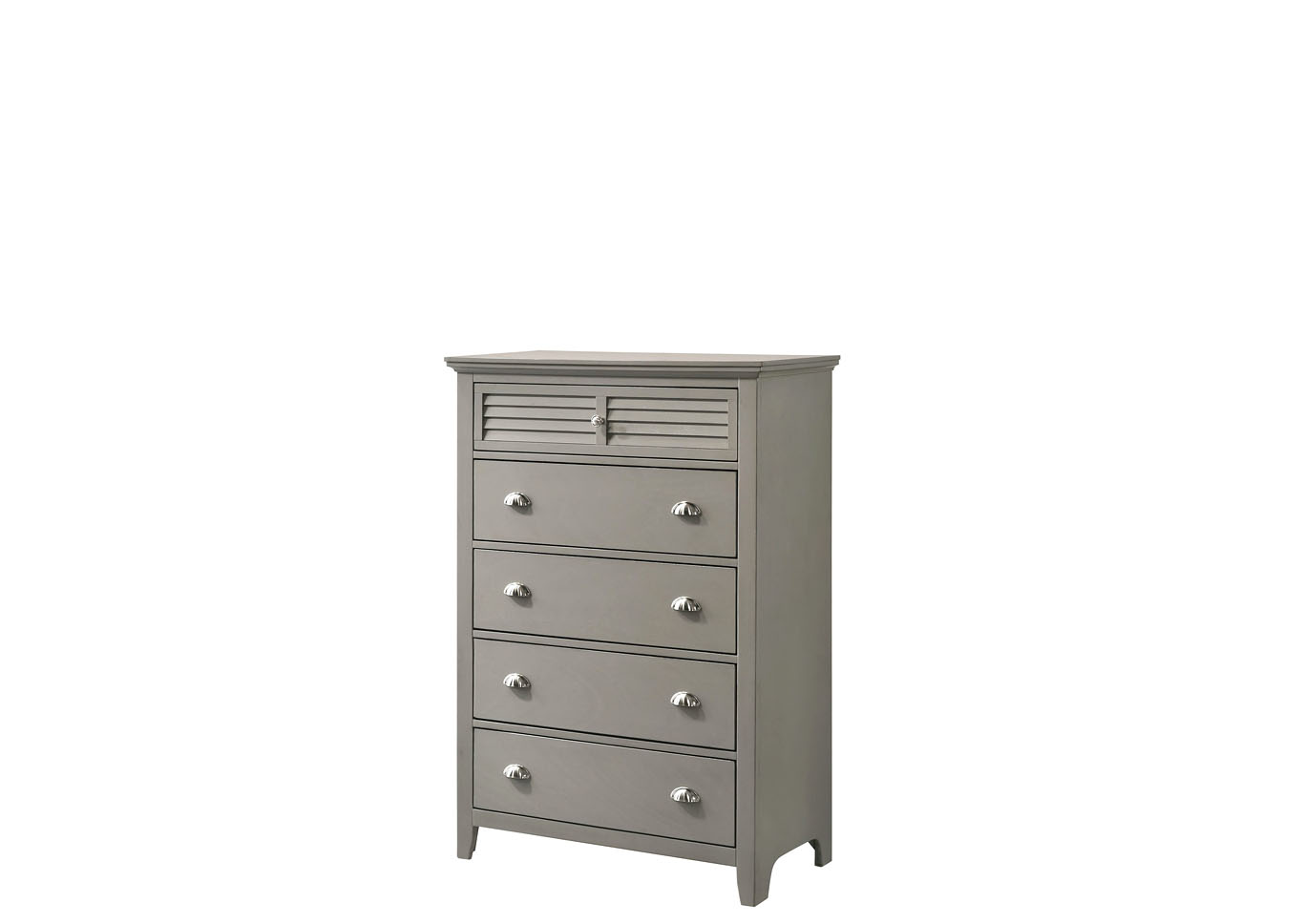 Jazz 5 Drawer Chest - Gray,Instore