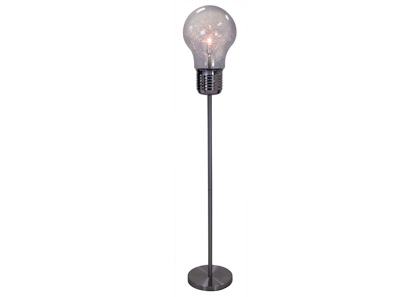"65""H TABLE LAMP Smoke,Instore"