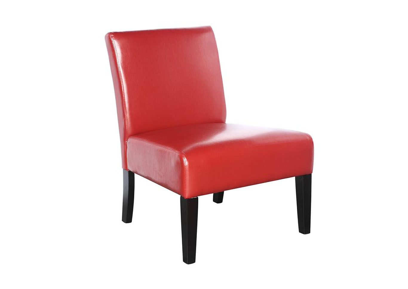 Gemini Armless Club Chair - Red,Instore