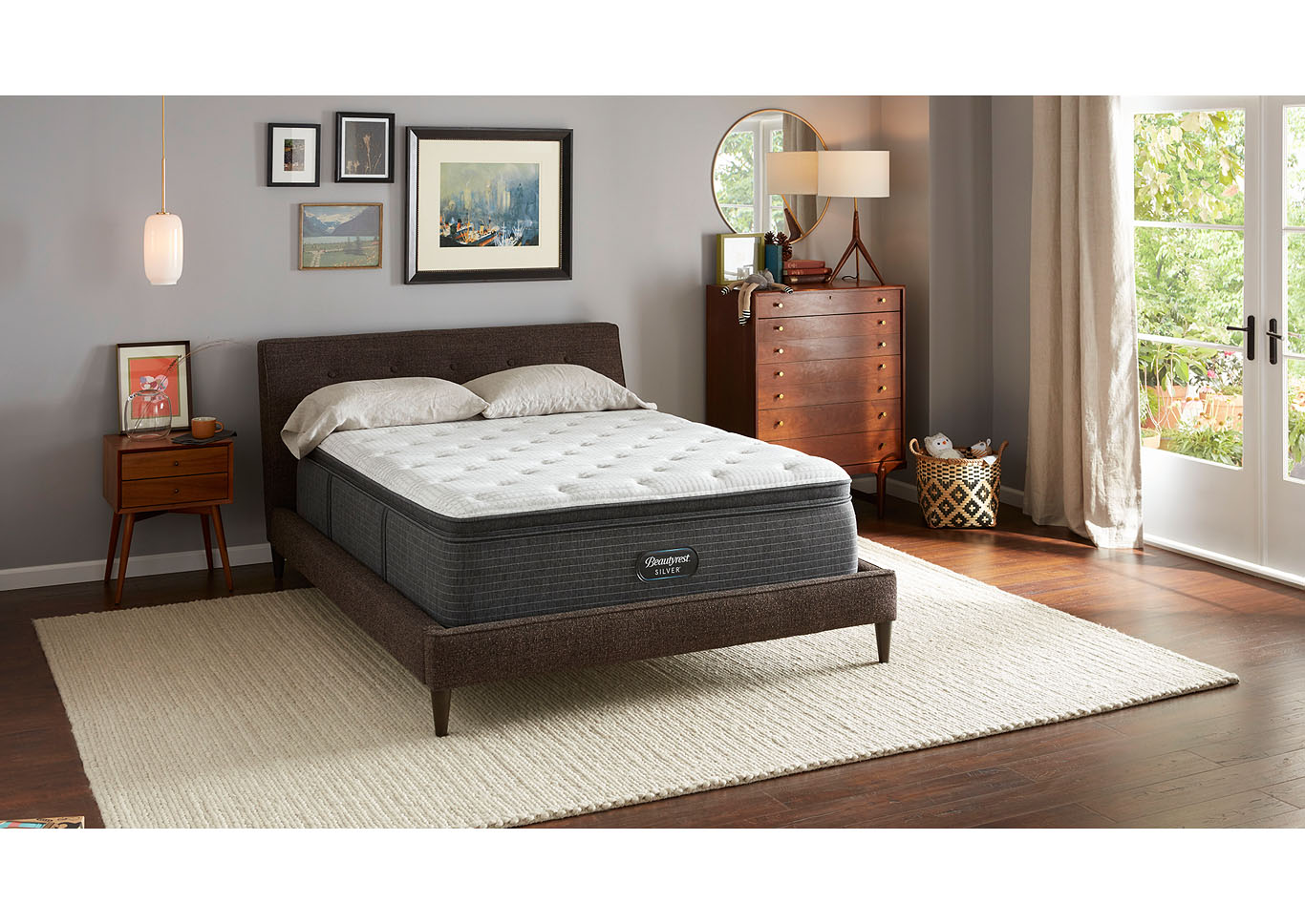 Beautyrest Silver South Bend Medium Pillow Top Mattress Only Full,Instore