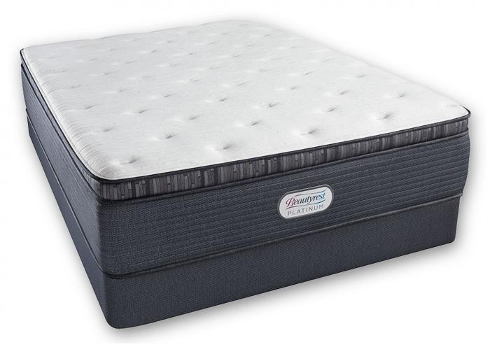 Beautyrest Platinum Spring Grove Luxury Firm Pillow Top Mattress and Foundation California King,Instore