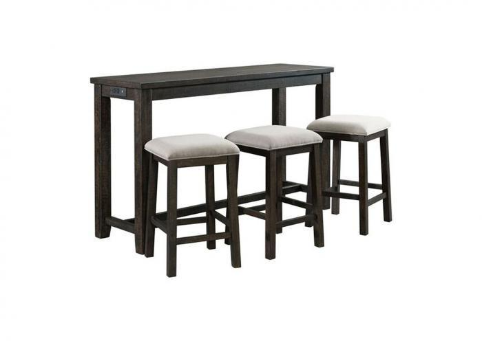 Stonebrook Slim Counter Height Table with 3 Stools,Instore