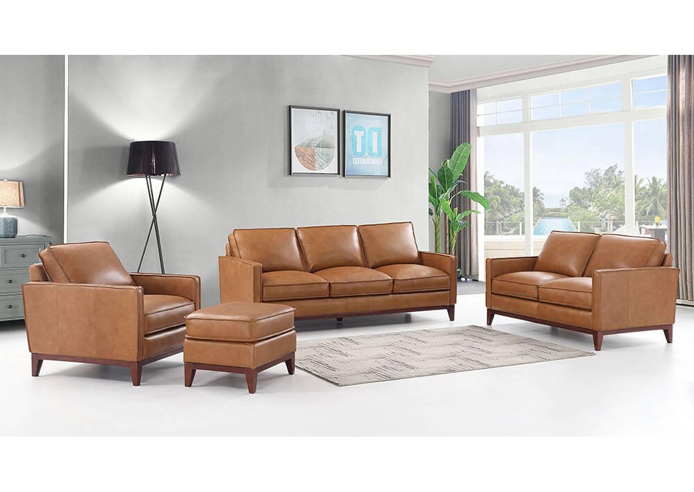 Newport Top Grain Leather Sofa and Love Seat,Instore