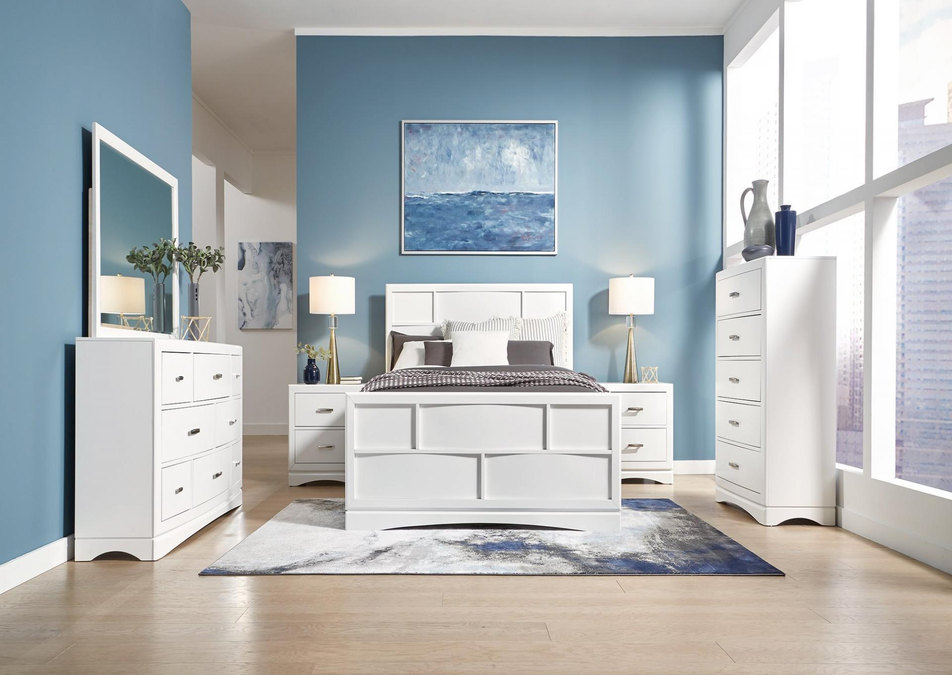 Toro White Storage Bed with 4 side drawers and platform