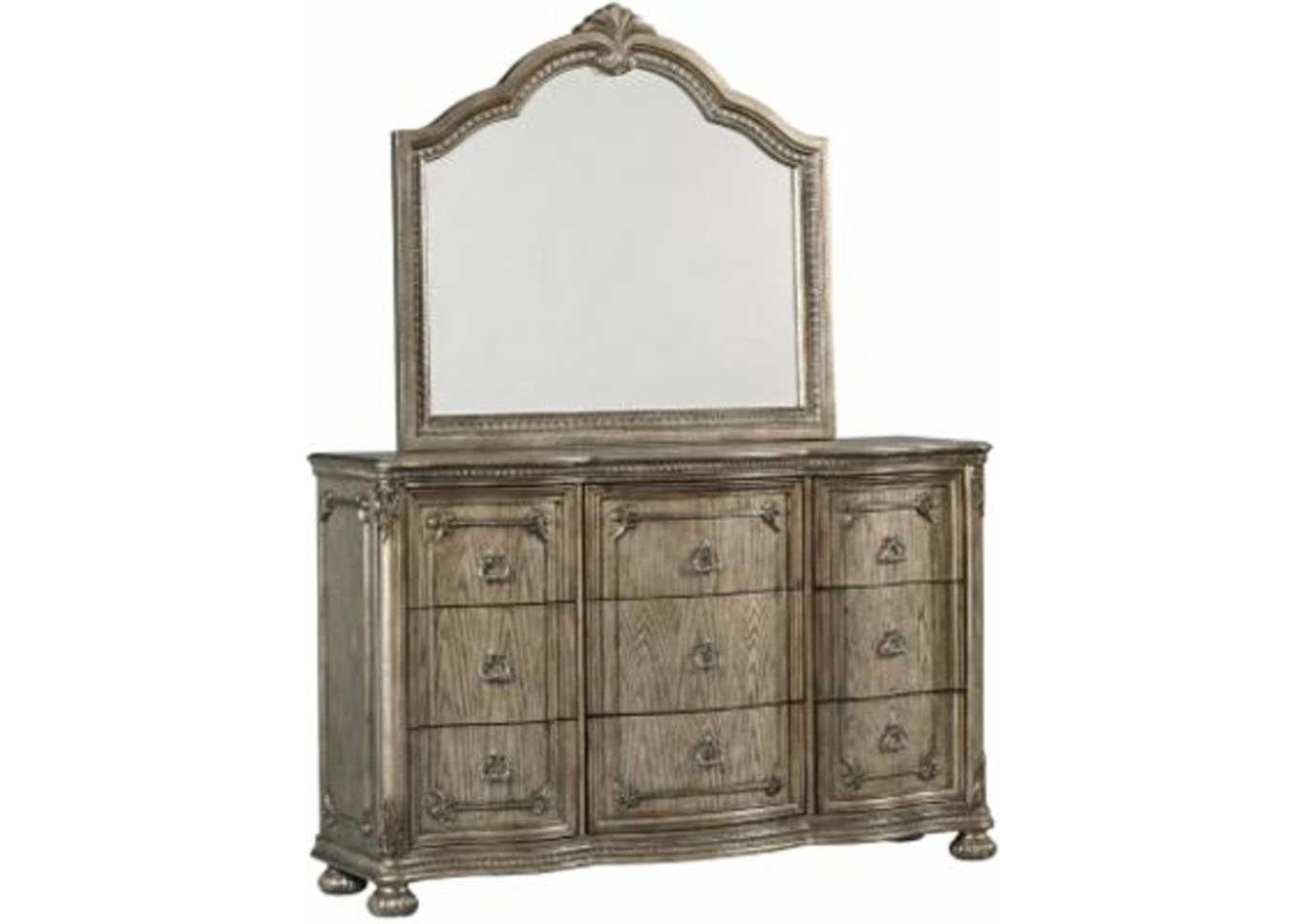 Dorado Padded Panel Bedroom Set - Eastern King,Instore