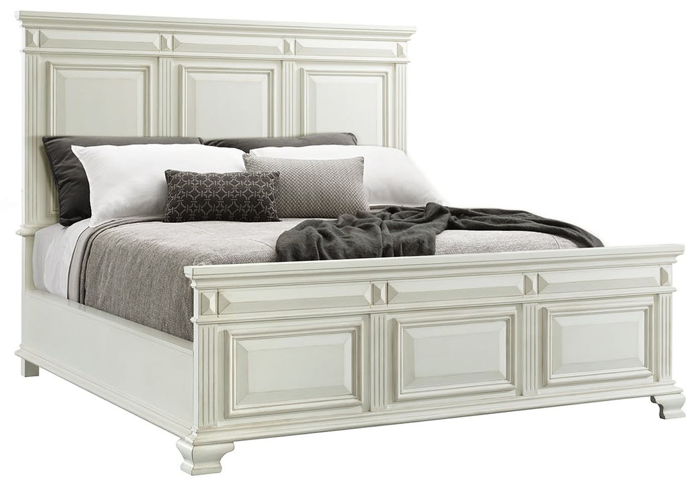 Calloway White Panel Bedroom Set - Eastern King,Instore