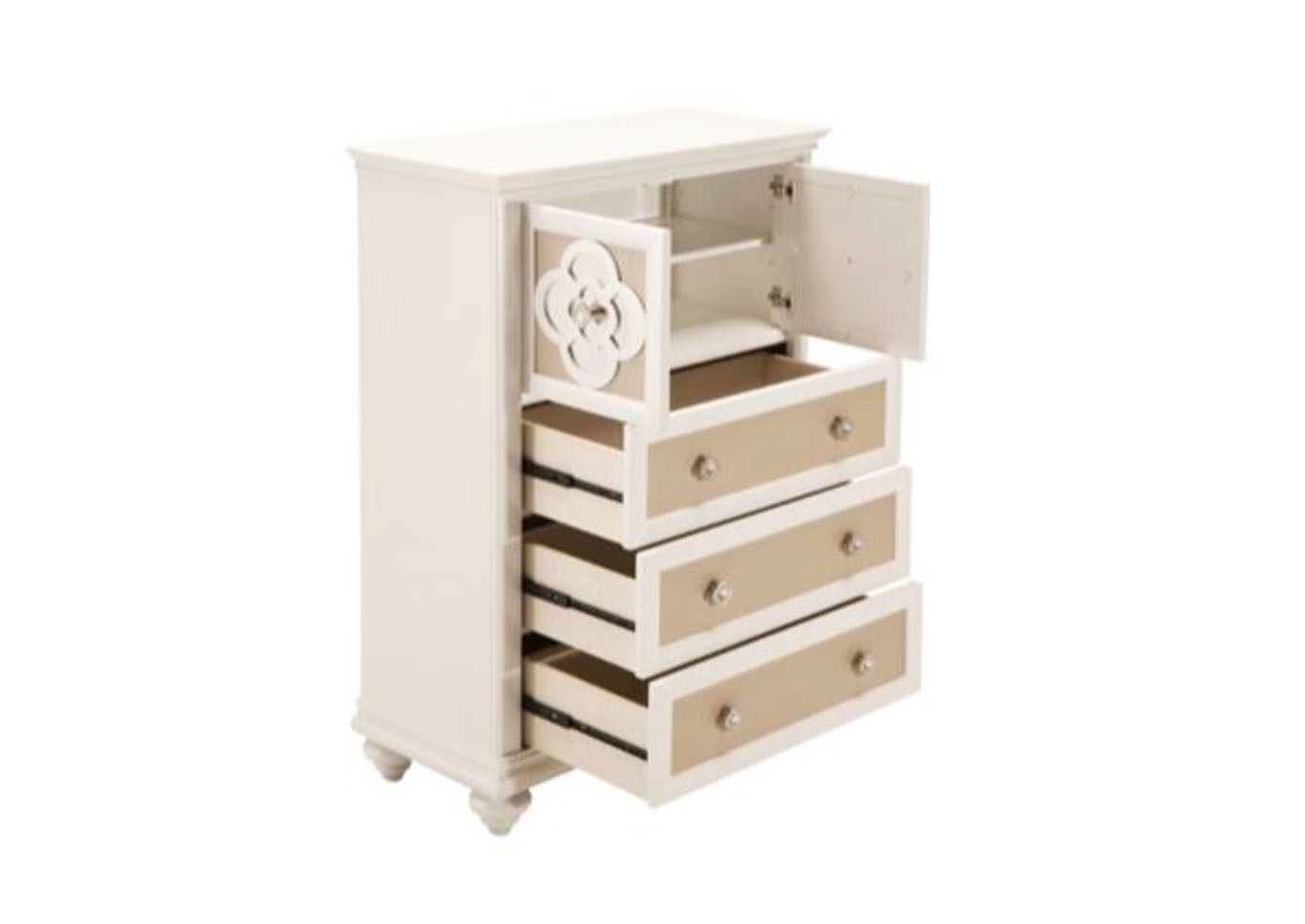 Brianna 3 Drawer Chest w/ Doors,Instore