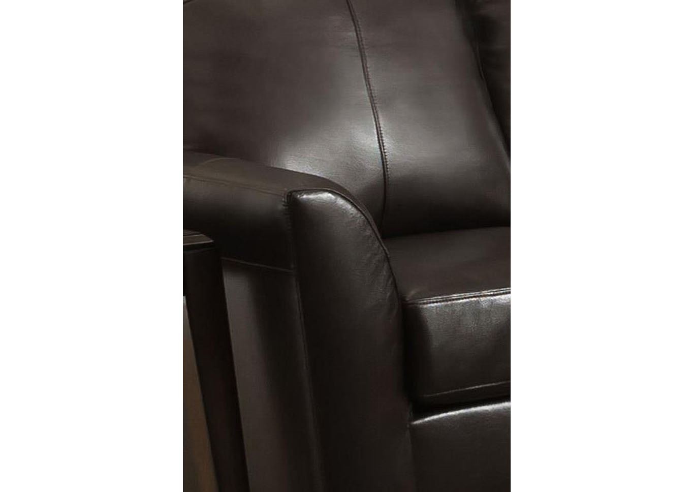 "Lane Furniture ""Grant"" Top Grain Leather / Mate Sofa Sleeper - Bark,Instore"