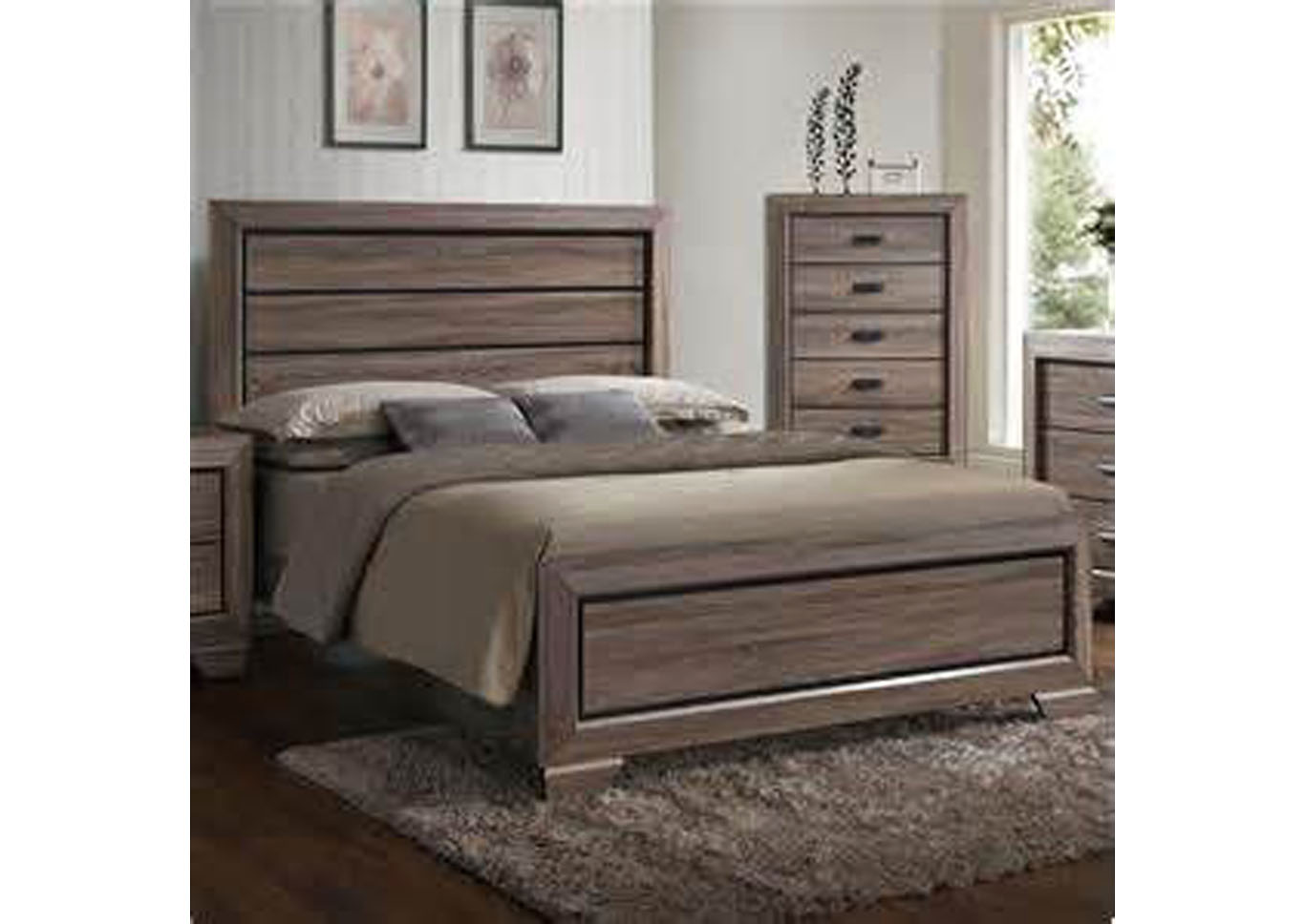 Farrow Queen Panel Bed - Gray,Instore