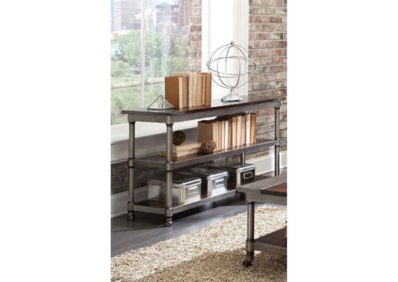 Hudson Sofa Table,Instore