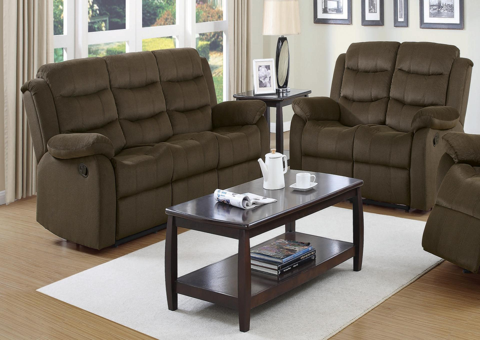 Sofa and Loveseat with 2 recliners in each