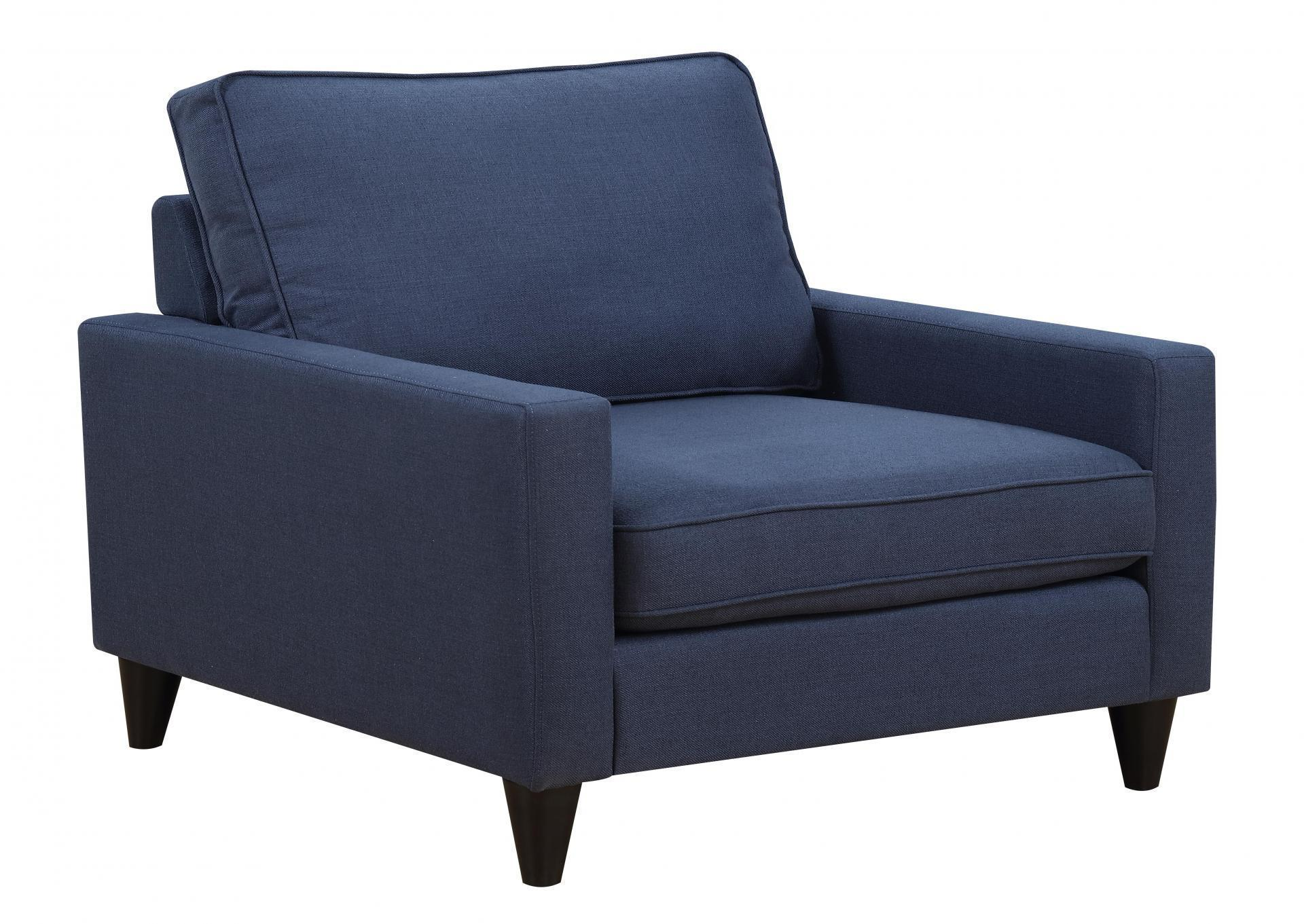Blue Fabric Accent Chair Chance