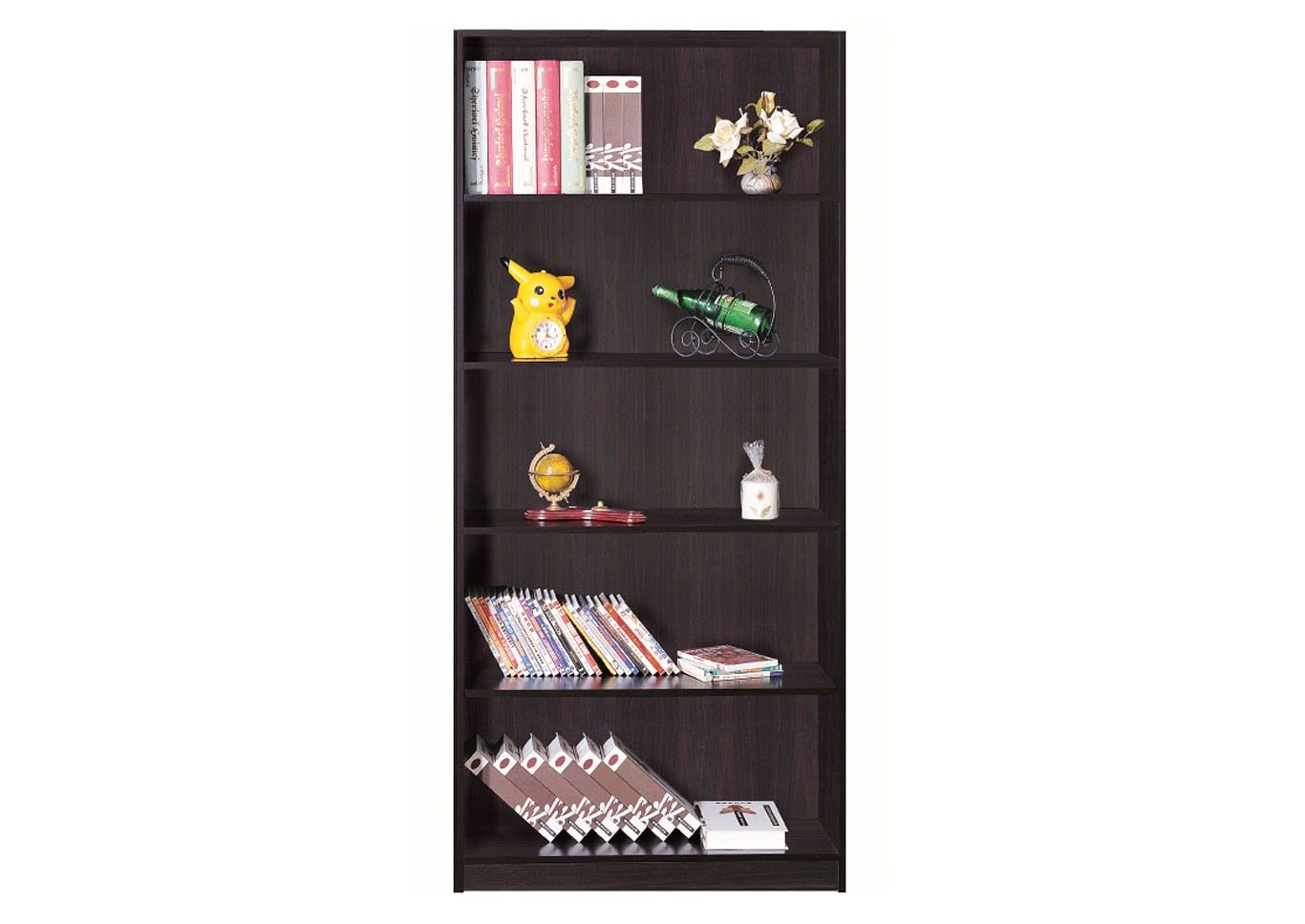 Red Cocoa 71 Inch Bookshelf,Instore
