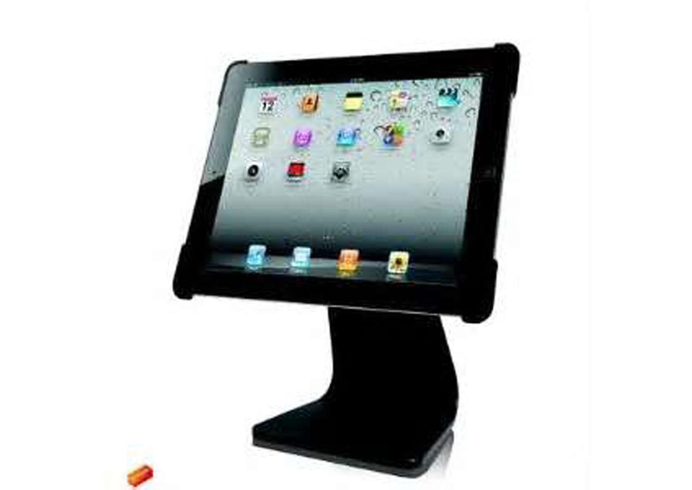 Desktop Iron Stand for iPad and iPad 2 - Black,Instore
