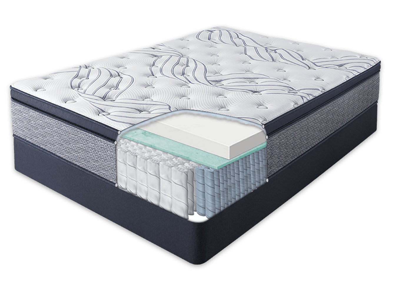 Serta Sleep Retreat Park City Pillow Top Mattress and Foundation Twin XL (Extra Long),Instore