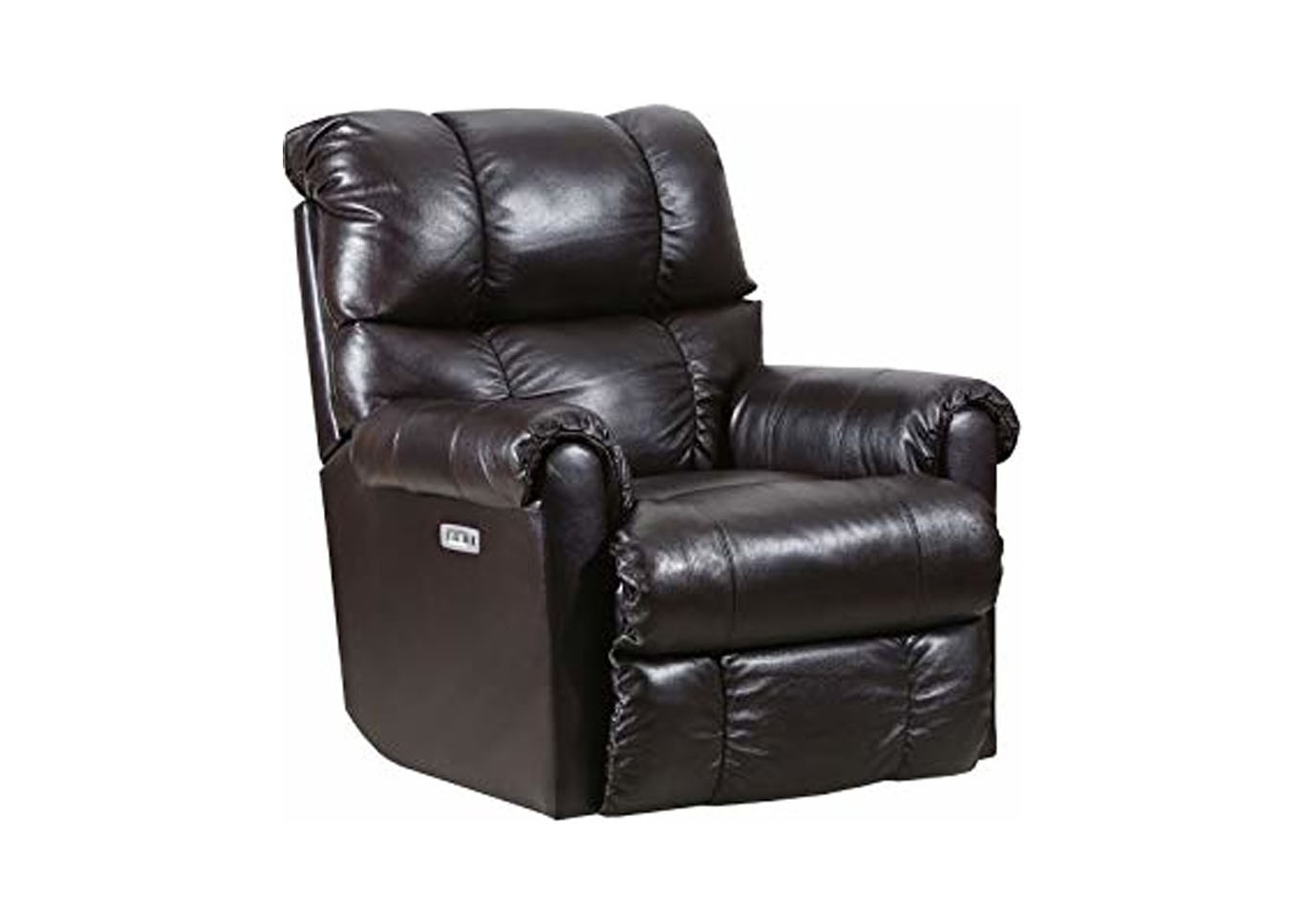 "Lane ""June"" Leather Power Rocker - Recliner with Heat and Massage - Bark,Instore"