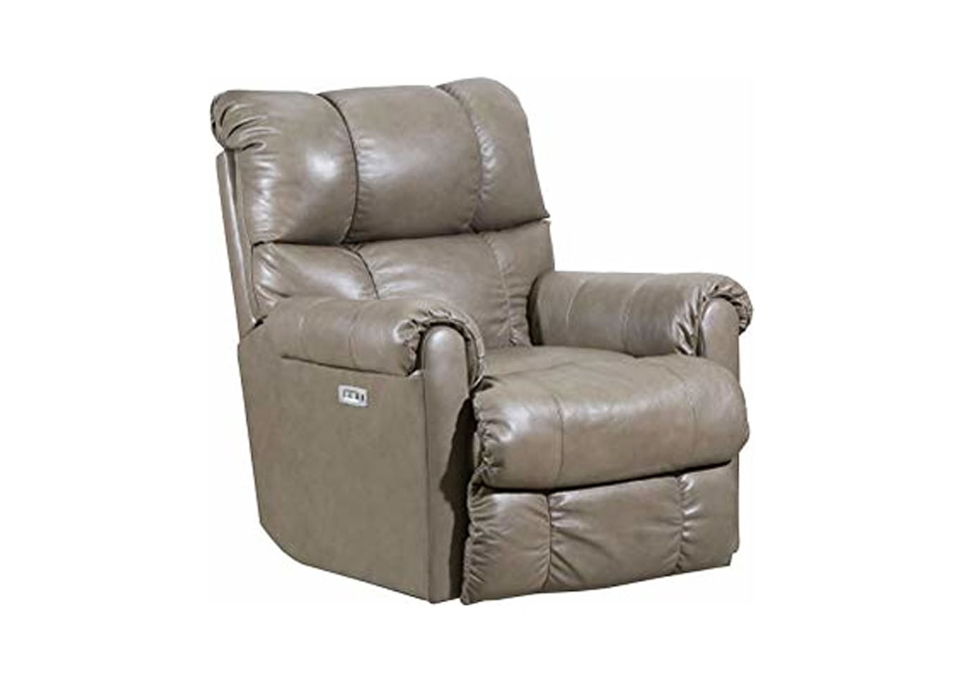 Lane  June Leather Power Rocker Recliner with Heat and Massage Taupe,Instore