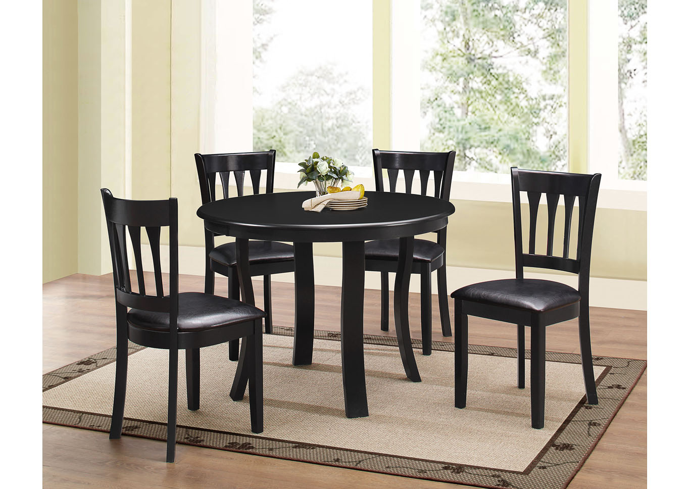 Ebony 5pc Dining Set,Instore