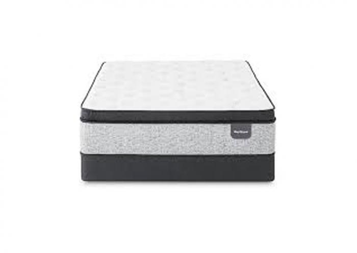 Serta Sleep Retreat Park City Pillow Top Mattress and Foundation California King,Instore