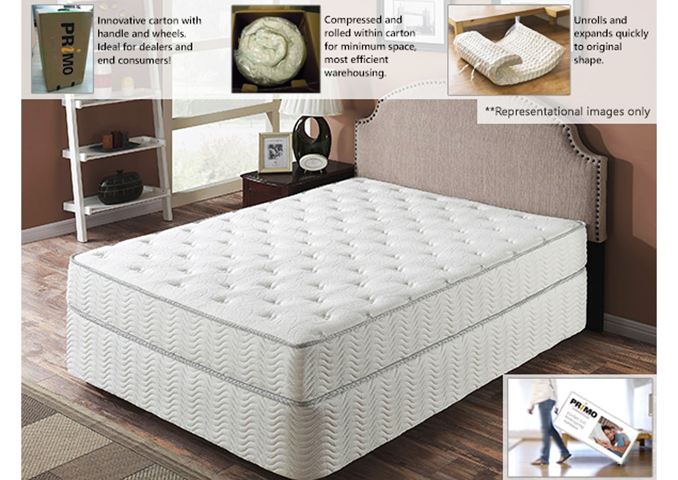 Galaxy 9 Inch Mattress And Foundation Full,Instore
