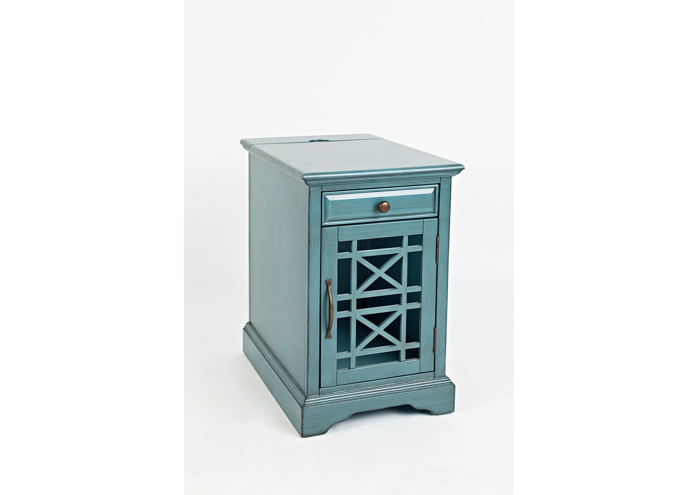 Craftsman Power Chairside Table - Antique Blue,Instore
