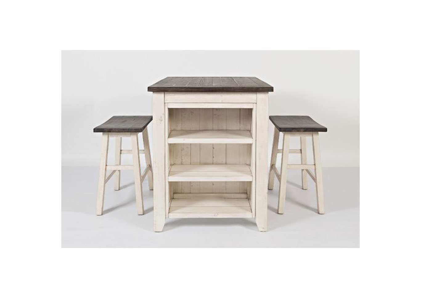 Madison County Counter Height Table with 2 Stools - Vintage White,Instore