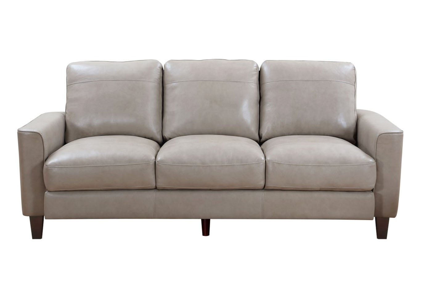 Chino Top Grain Leather Sofa - Beige,Instore