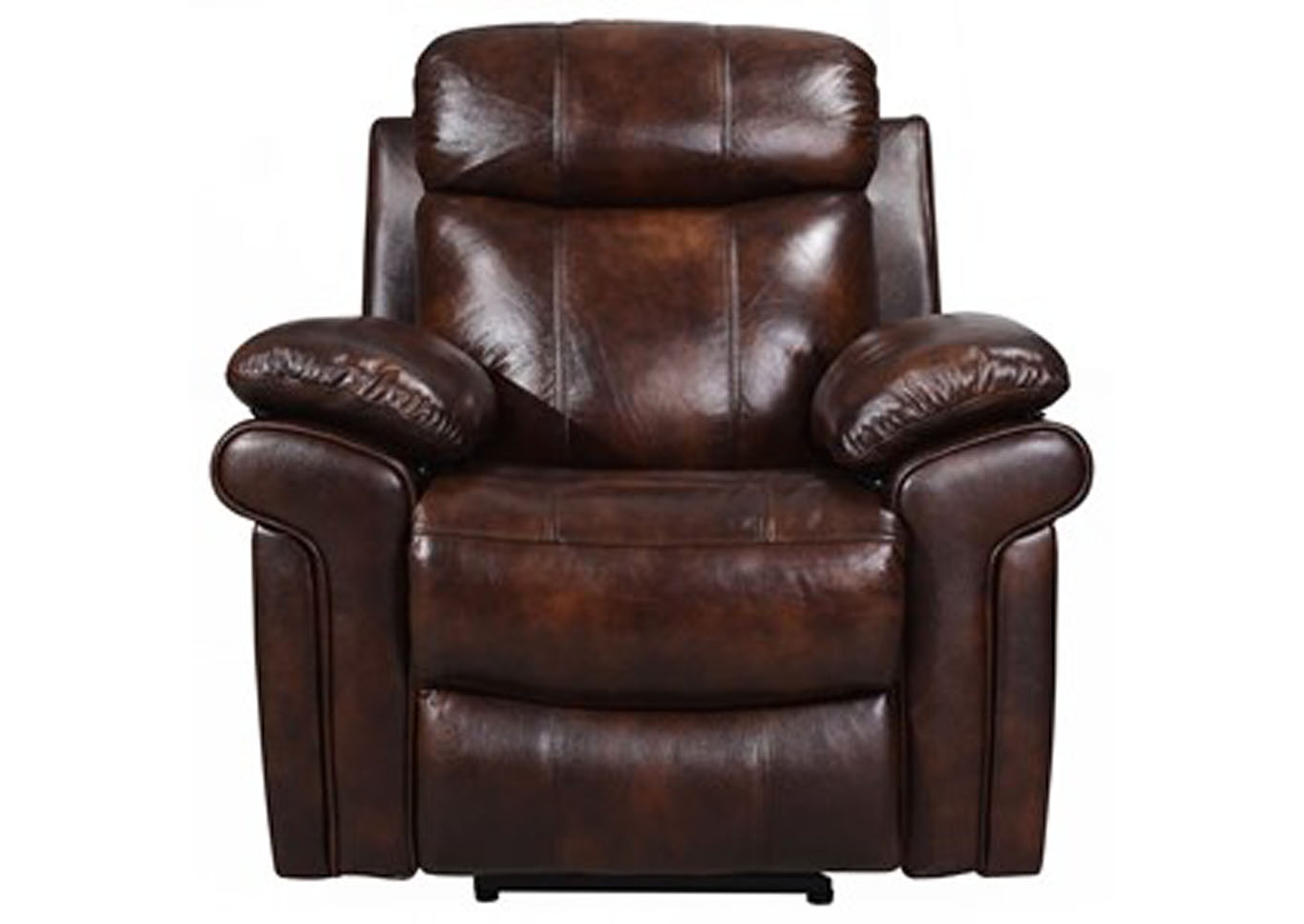Joplin Top Grain Leather Power Recliner - Brown,Instore