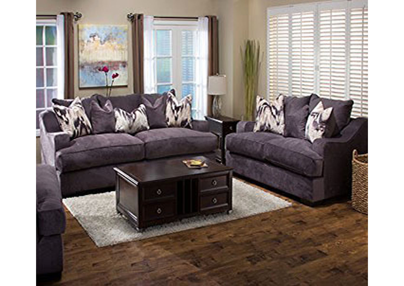 Spartan Sofa and Loveseat Set,Instore