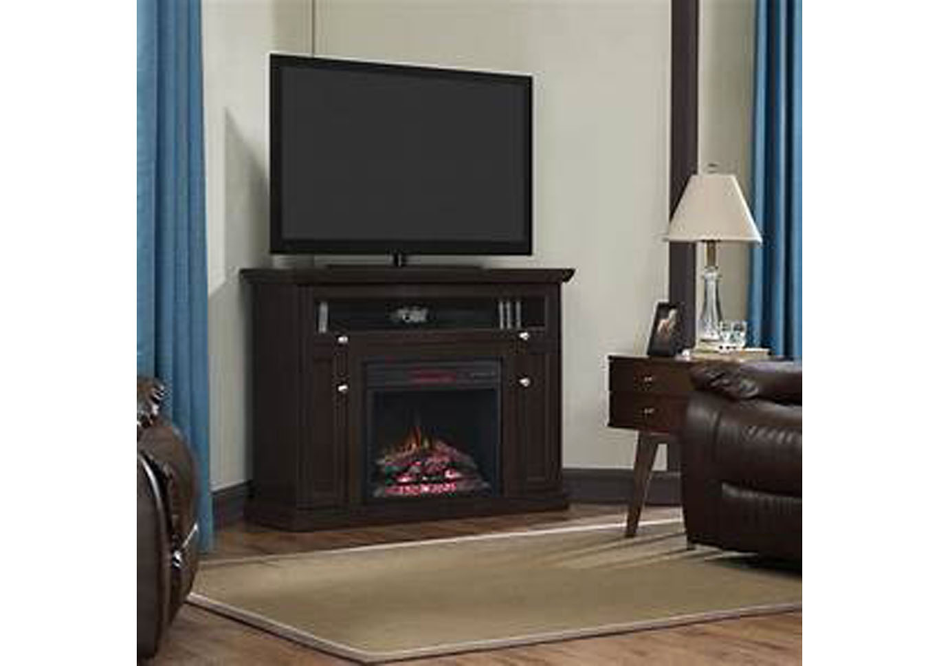 "Classic Flame Windsor TV Stand for TVs up to 50"",  Espresso,Instore"