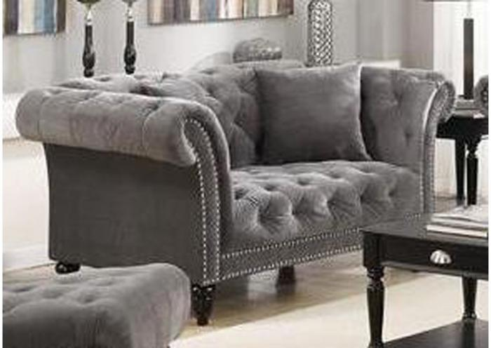 Twain Love Seat - Broadway Gun Metal,Instore