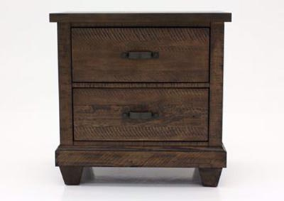 Image for Rock Brown 2 Drawer Nightstand