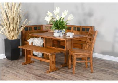 Image for Sedona Breakfast Nook with Side Bench and Padded Chair