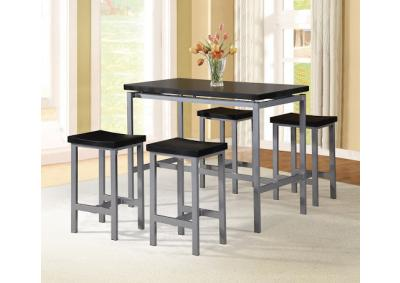 Image for Lindsey 5pc Counter Height Dining Set - Black