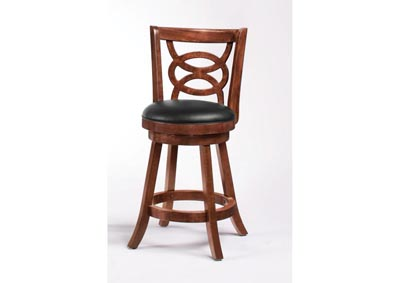 Swivel Counter Stool - 24 Inch Cappuccino