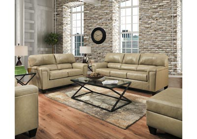 Image for Lane Furniture  Kennedy Top Grain Leather / Mate Sofa and Love Seat Putty