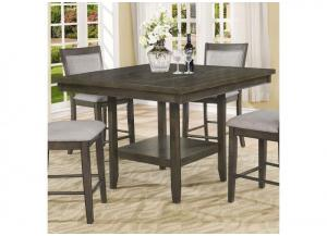 Melrose Gray Counter Height Set - Table with 4 Stools