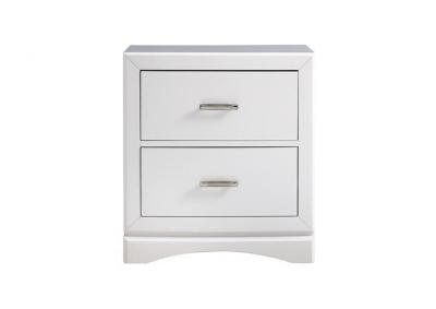 Image for Toro 2 Drawer Nightstand - White