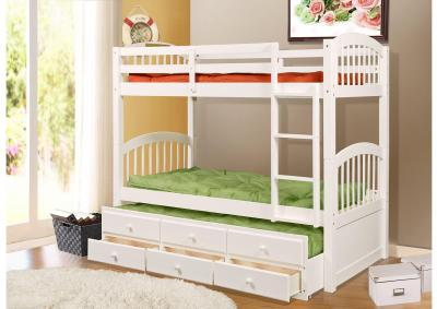 Image for Benny Bunk Bed w/ Trundle & Storage - White