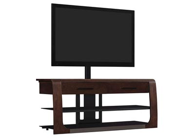 "Image for Triple Play 50"" 3 Shelf TV Stand with Flat Panel Mount - Dark Espresso"