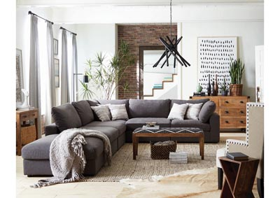 Image for SERENITY MODULAR LIVING ROOM SET Charcoal