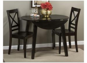 Simply Drop Leaf Table and 2 Chairs - Espresso
