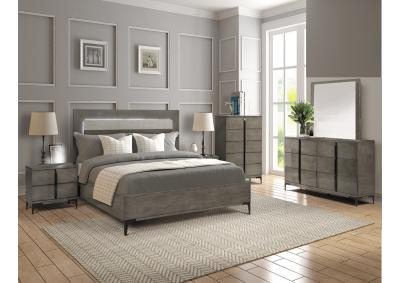 Image for Melia Lighted Panel Bedroom Set - Queen - CLOSE OUT